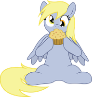 Derpy and her Muffin by birthofthepheonix