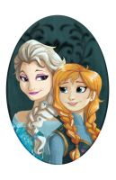 Elsa and Anna by bishounenizer