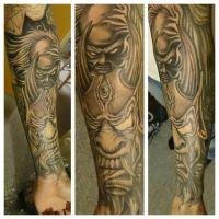 Rework of an old tattoo.. Still in progress by zok4life