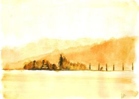 aquarell landscape by Panthymaeus