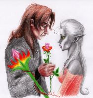 Manora and Martin Septim by Smeha