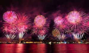 Firework at Bosphorus of Istanbul - Turkey by RRESPECTT