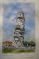 The Leaning Tower of Pisa by a-thammasak