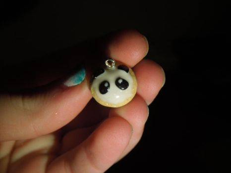 Panda Cupcake | Polymer Clay | PastelClayCharms by theblondeunicorn