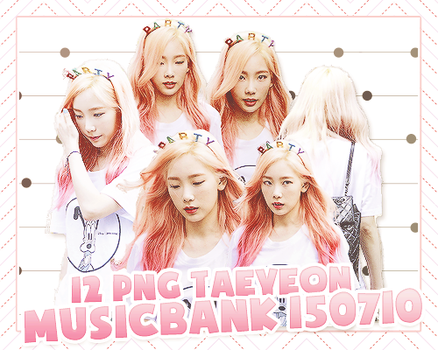 PACK PNG TAEYEON @150710 MUSIC BANK by victorhwang