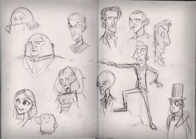 Doctor Who  doodles 29.09.14 by Gilmec