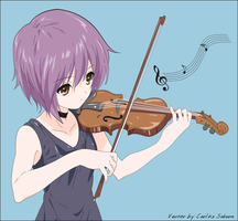 Nagato Yuki with violin by CarlosSakura