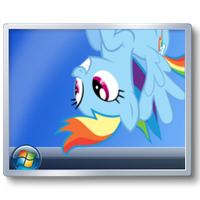 Rainbow Dash Show Desktop icon by tauts05