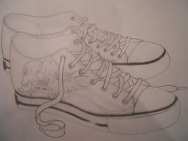Old Converse by m0onjade