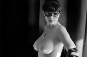 Black and white naked 2 by DearCrowley
