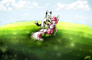 Playful buds~Commission by MidnightsBloom