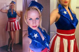USO/Captain America Dancing Girl by Spwinkles