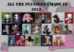 plushies in 2012 by FurryFursuitMaker