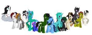 Party Ponies by Evomanaphy
