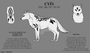 Cyes the arctic wolf by zavraan