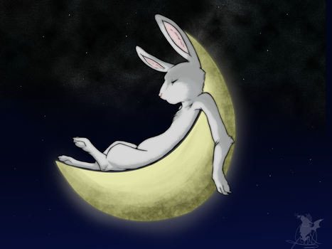 Rabbit of the Moon by Jinxsis