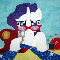 Suited for Success Charity Quilt Square by WhiteHeather