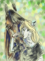 With horse by whitecrow-soul