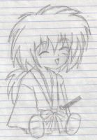 Kawaii Sitting Kenshin by fairies-r-real