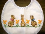 Rabbits on the bib by Vetriz