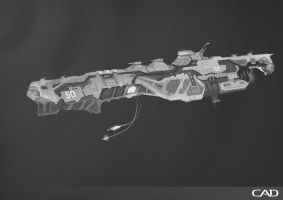 Black and white concept ship by ConnorDiver