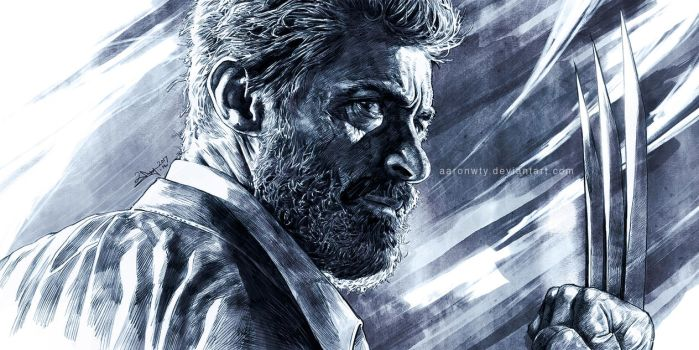 Old Logan - tribute to Hugh Jackman by aaronwty