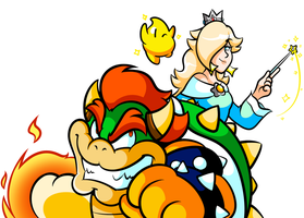 Commission - Bowser & Rosalina Bust by JamesmanTheRegenold