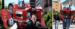 Optimus Prime meets Peter Cullen by Old-Trenchy