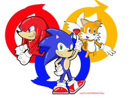 We are Sonic heroes... by xRubiMalonex