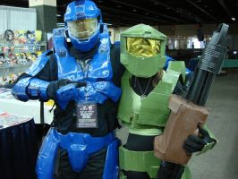 Master Chief and Blue Spartan by Gubreez