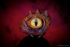 Red Dragon Stone Eye by StormbloodCurio