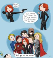 Avengers: Because GUNS. by Chocoreaper