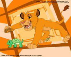 Simba -catch the turtle- by GXsion