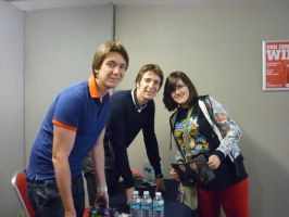 Me + James and Oliver Phelps by JelloDinosaur