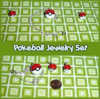Pokeball Jewelry Set by YellerCrakka