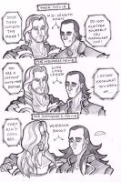 Thor and Loki - HAIR! by puking-mama