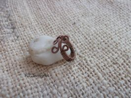 wirewrapped copper ring by kulmajs