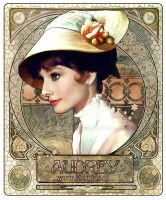 Audrey Hepburn - Art Nouveau II by jdesigns79