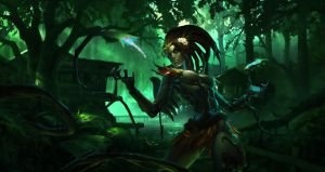 Zyra League of legends by Neskoff