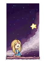 Starry sky 2 by Drawn-Mario