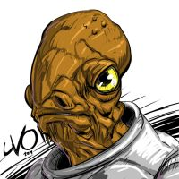 Digital Sketch Warm up 42 - Admiral Ackbar by Vostalgic