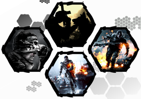 Battlefield 4 and Call of Duty: Ghosts by WE4PONX