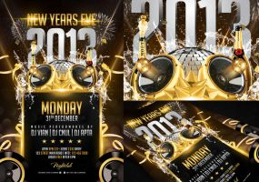 New Years Eve Flyer Template by angkalimabelas