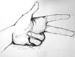 My hand 1 by Polyesterday