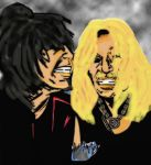 Nikki Sixx And Vince Neil Color by NubianGoddess