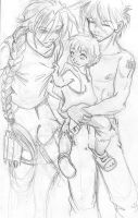 duo, heero and baby Quatre by askerian