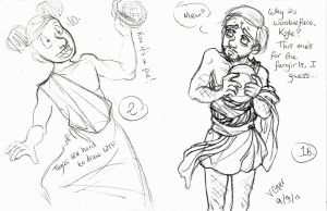 Process 3 of 4: Togas and Pie by VenGethenian
