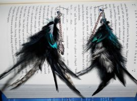 Ravenclaw Feather Earrings by StCoraline