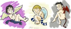 Sherlock Cherubs Coloured by tigerkatz