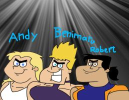 Benimaru, Andy and Robert by Cookie-Lovey